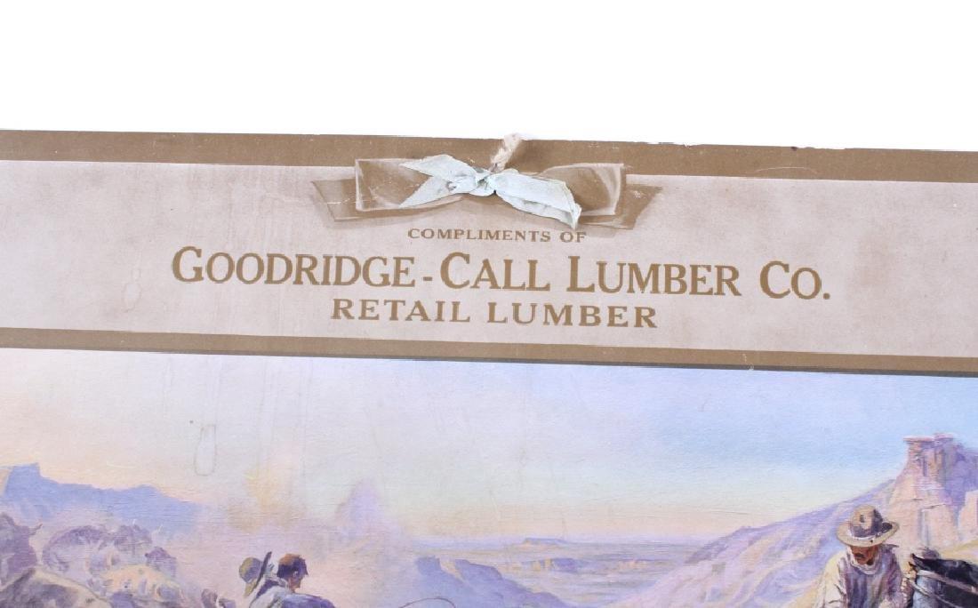 C M Russell Goodridge Lumber 1911 Calendar - 2