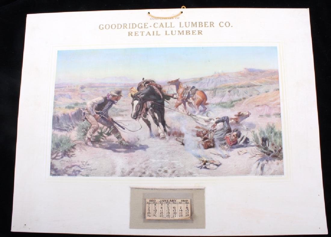C M Russell Goodridge Lumber Co. 1910 Calendar