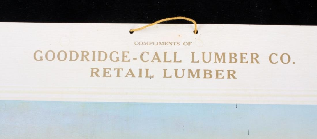 C M Russell Goodridge Lumber Co. 1910 Calendar - 3