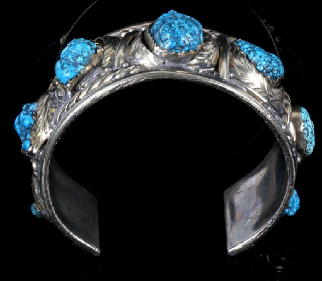 Navajo Turquoise Sterling Silver Bracelet