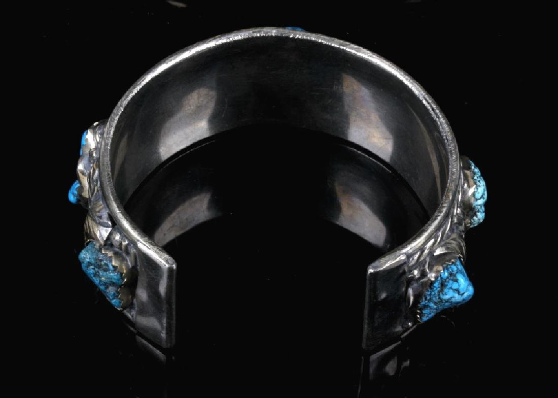 Navajo Turquoise Sterling Silver Bracelet - 5