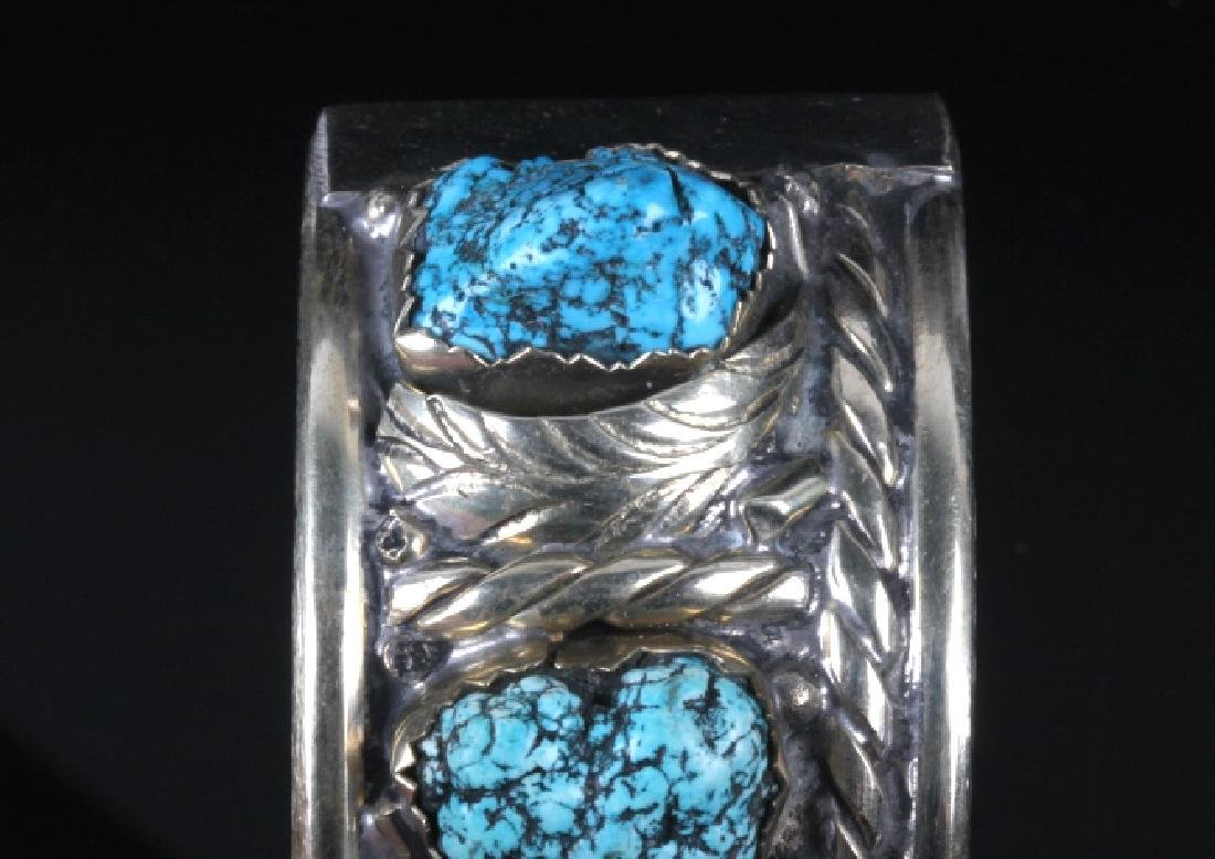 Navajo Turquoise Sterling Silver Bracelet - 6