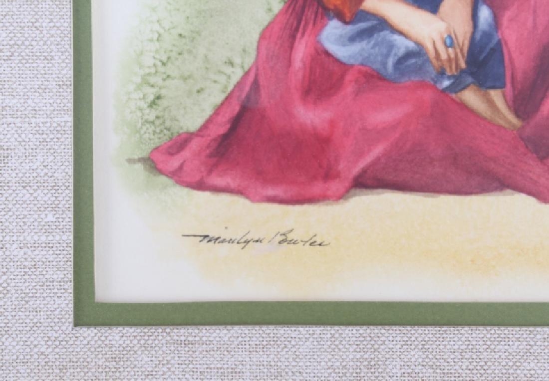 Marilyn Buter Original Watercolor Native Sisters - 3