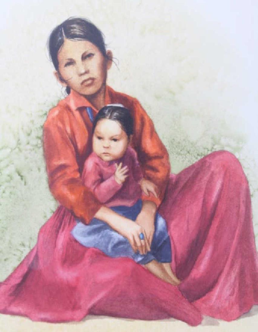 Marilyn Buter Original Watercolor Native Sisters - 4