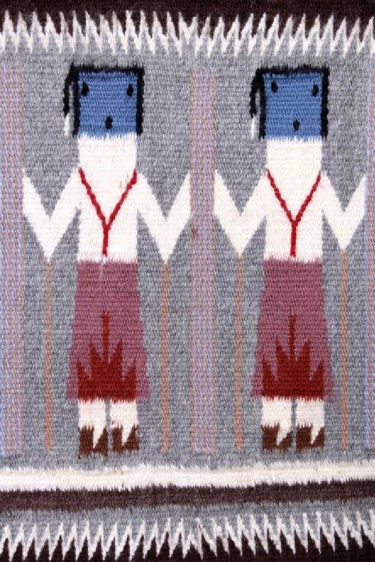 Rainbow Guardian Yei Navajo Woven Wool Rug - 2