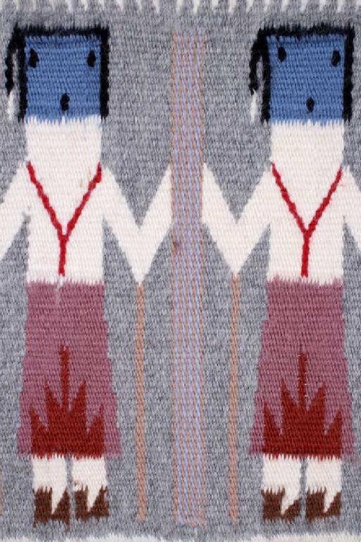 Rainbow Guardian Yei Navajo Woven Wool Rug - 3