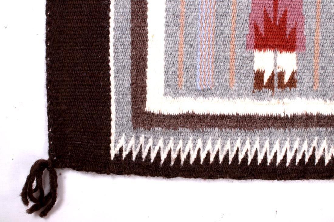 Rainbow Guardian Yei Navajo Woven Wool Rug - 4