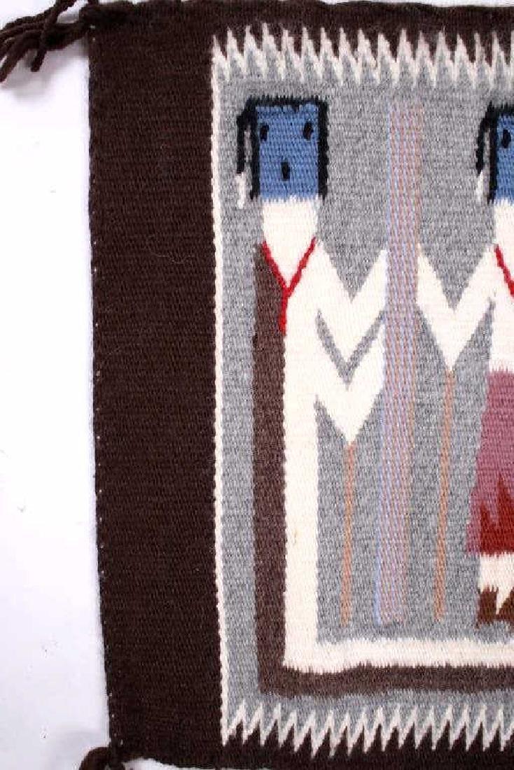 Rainbow Guardian Yei Navajo Woven Wool Rug - 5