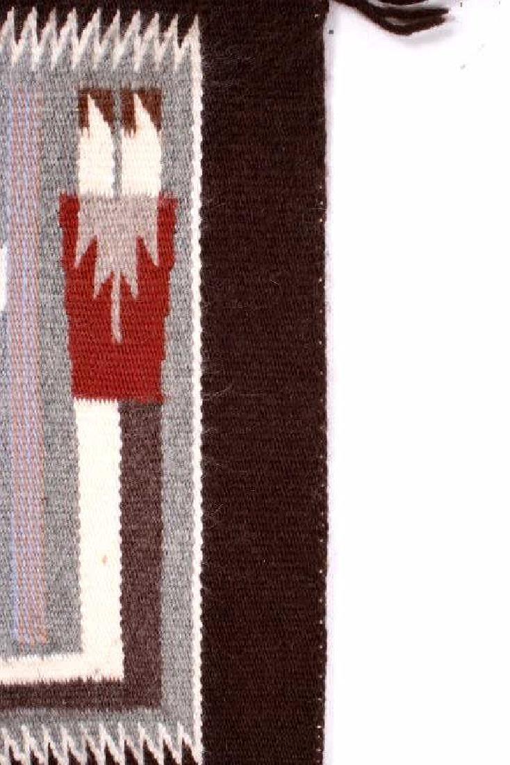 Rainbow Guardian Yei Navajo Woven Wool Rug - 6