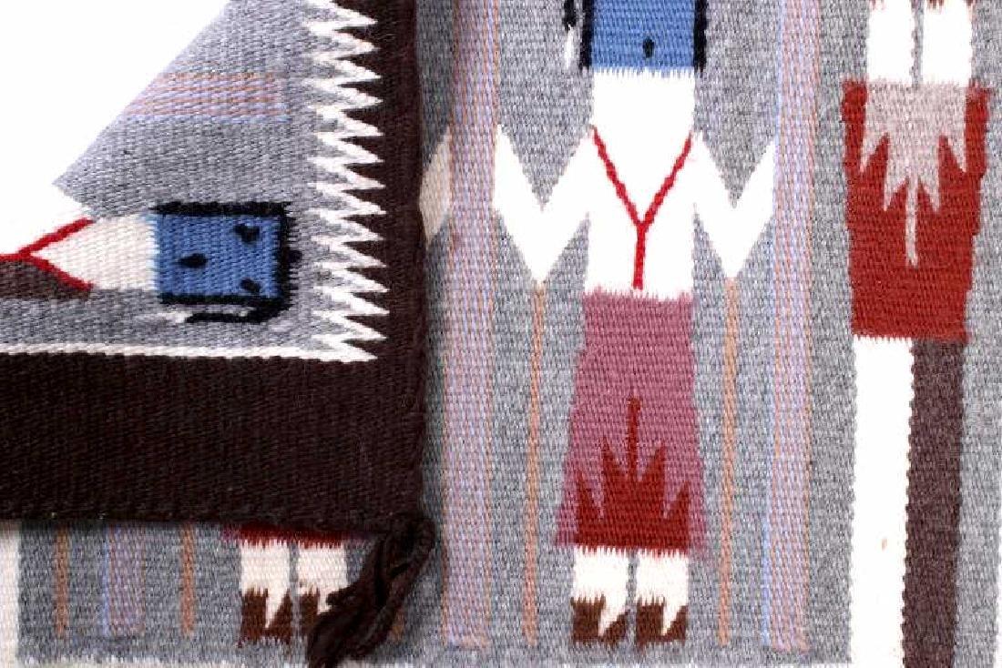 Rainbow Guardian Yei Navajo Woven Wool Rug - 7