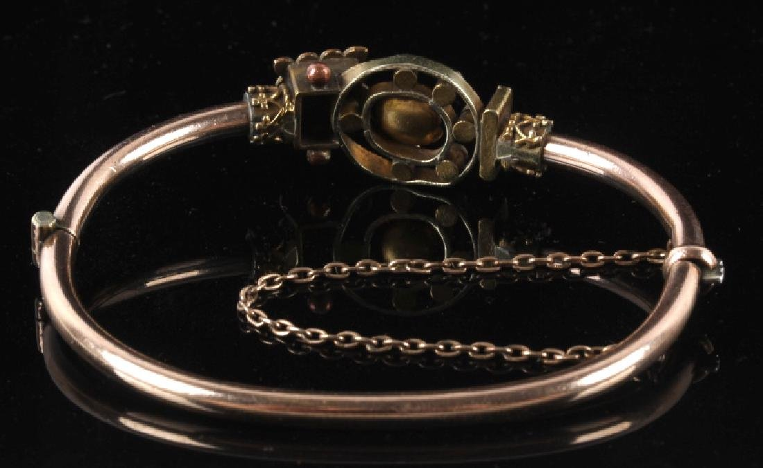 Victorian Rose & Yellow Gold Marriage Bracelet 1870's - 10