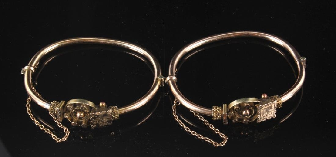 Victorian Rose & Yellow Gold Marriage Bracelet 1870's
