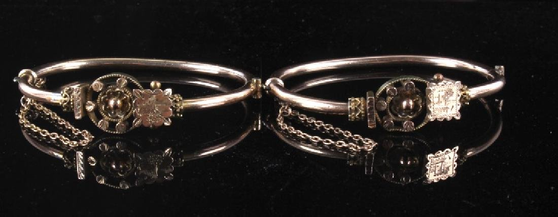 Victorian Rose & Yellow Gold Marriage Bracelet 1870's - 2