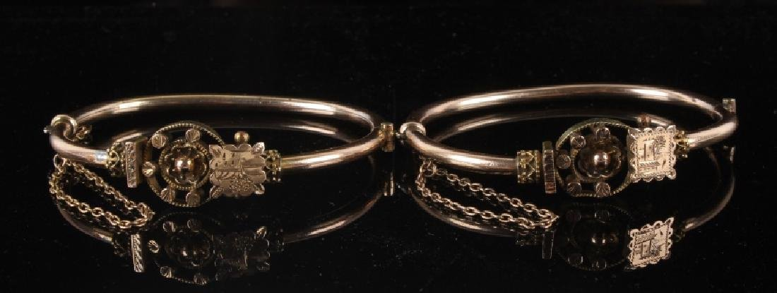 Victorian Rose & Yellow Gold Marriage Bracelet 1870's - 4