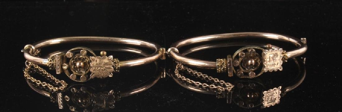 Victorian Rose & Yellow Gold Marriage Bracelet 1870's - 5