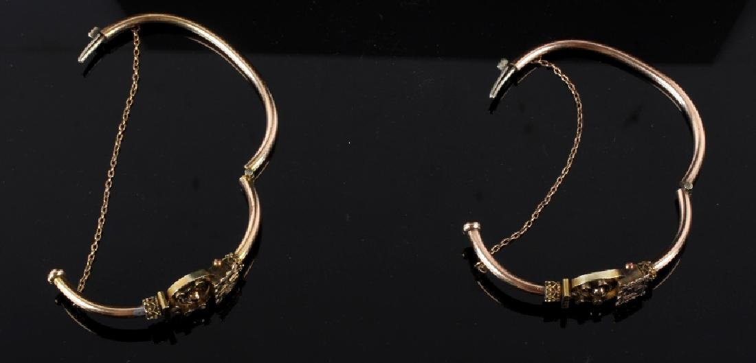 Victorian Rose & Yellow Gold Marriage Bracelet 1870's - 6