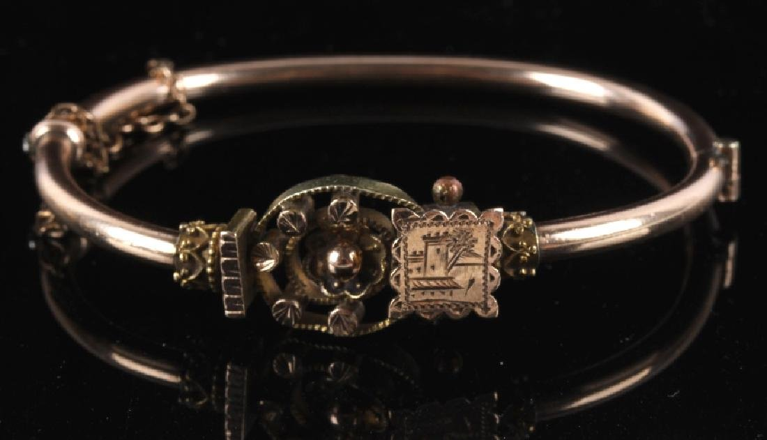 Victorian Rose & Yellow Gold Marriage Bracelet 1870's - 7
