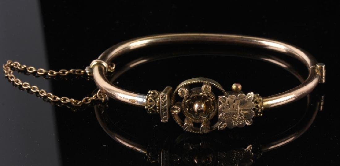 Victorian Rose & Yellow Gold Marriage Bracelet 1870's - 8