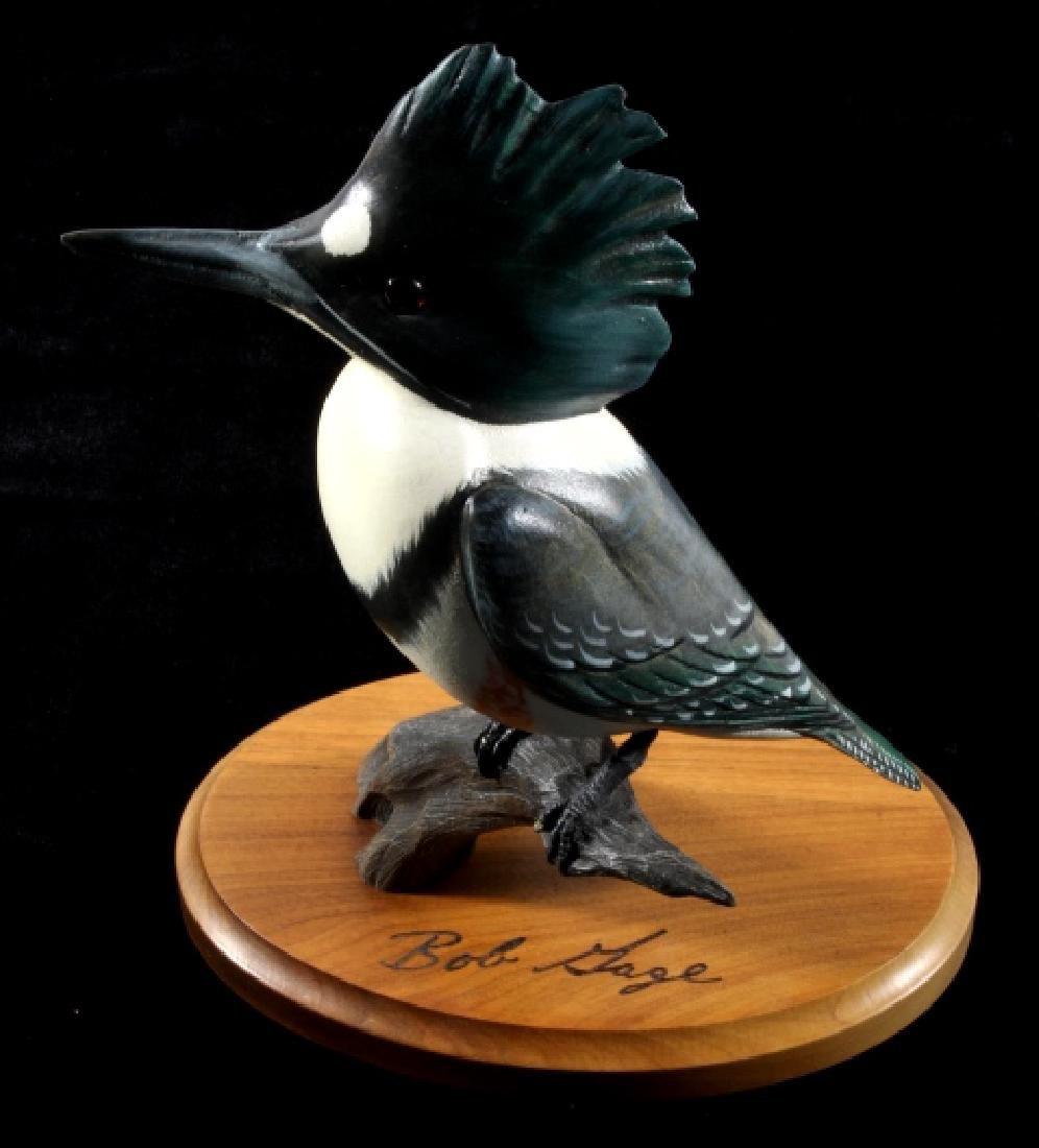 Bob Sage Big Sky Carvers Kingfisher Carving - 2
