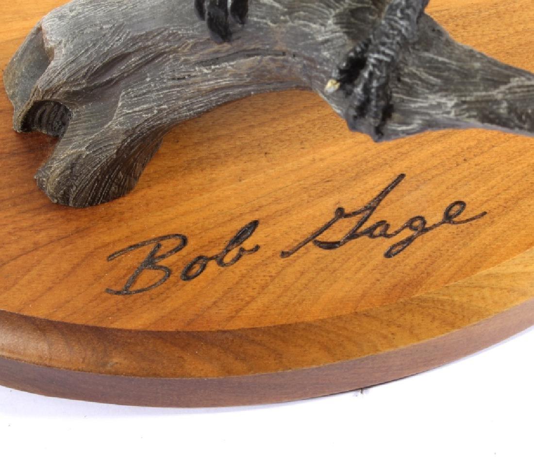 Bob Sage Big Sky Carvers Kingfisher Carving - 3