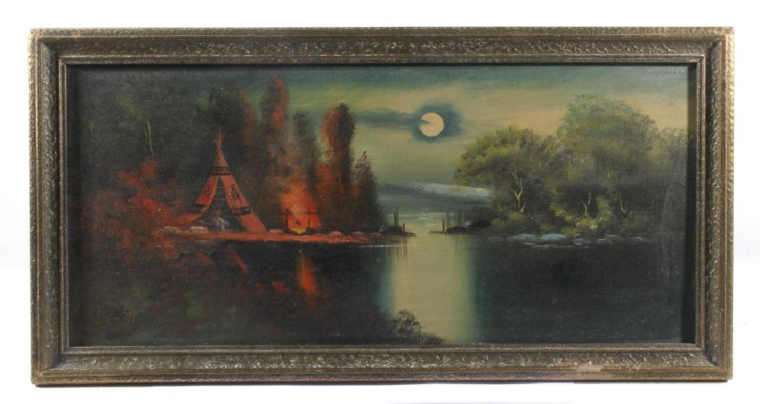 Signed Landscape Oil on Canvas Painting