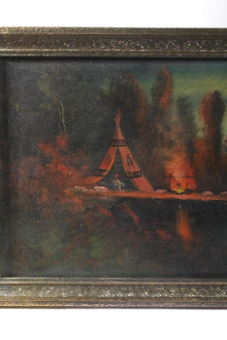 Signed Landscape Oil on Canvas Painting - 4