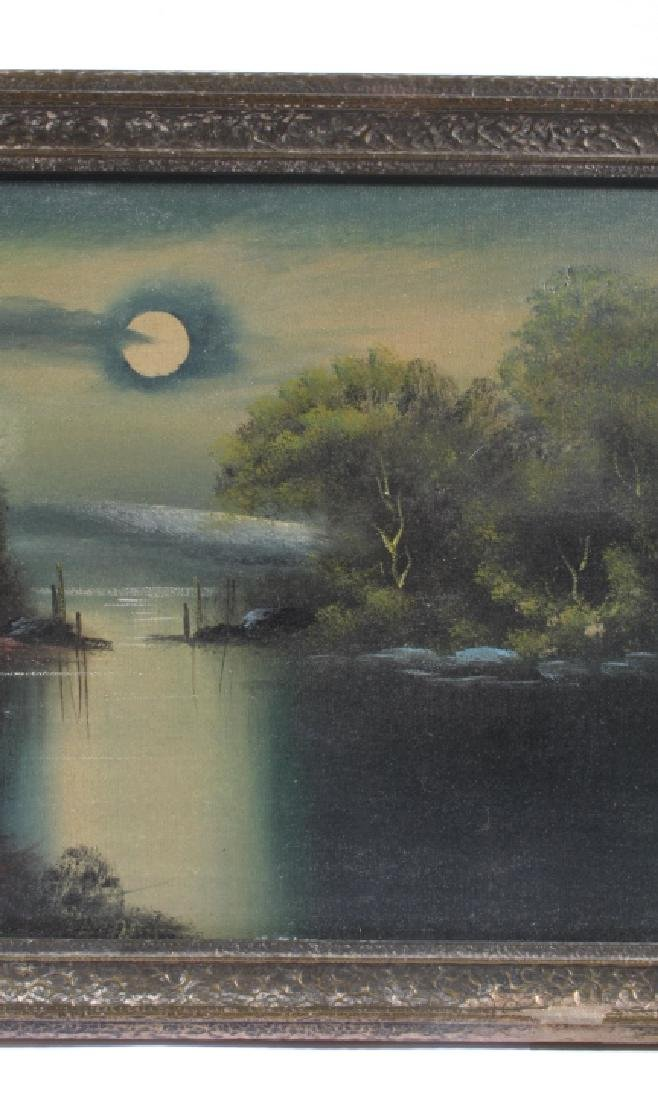 Signed Landscape Oil on Canvas Painting - 5