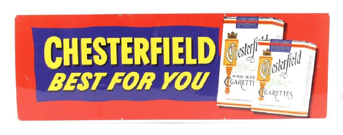 Chesterfield Cigarette Embossed Advertising Sign