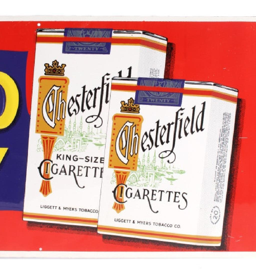 Chesterfield Cigarette Embossed Advertising Sign - 2