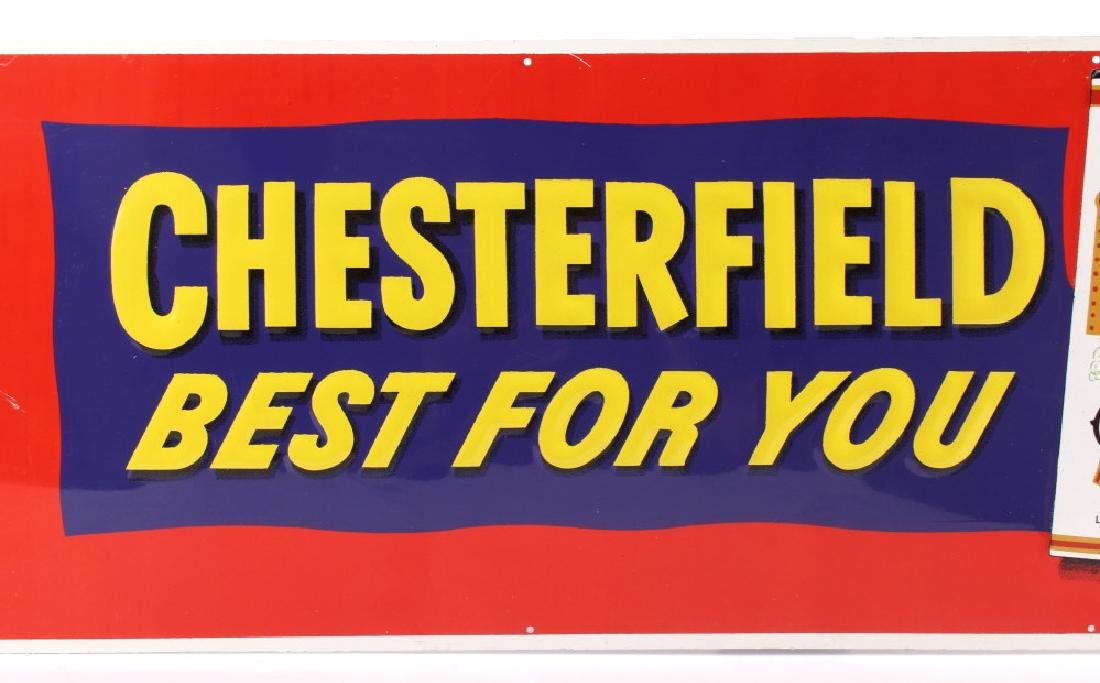 Chesterfield Cigarette Embossed Advertising Sign - 3