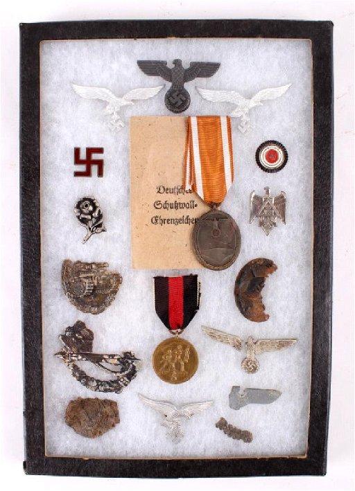 Nazi Medals, Pins, Tinnies, and Battlefield Scraps