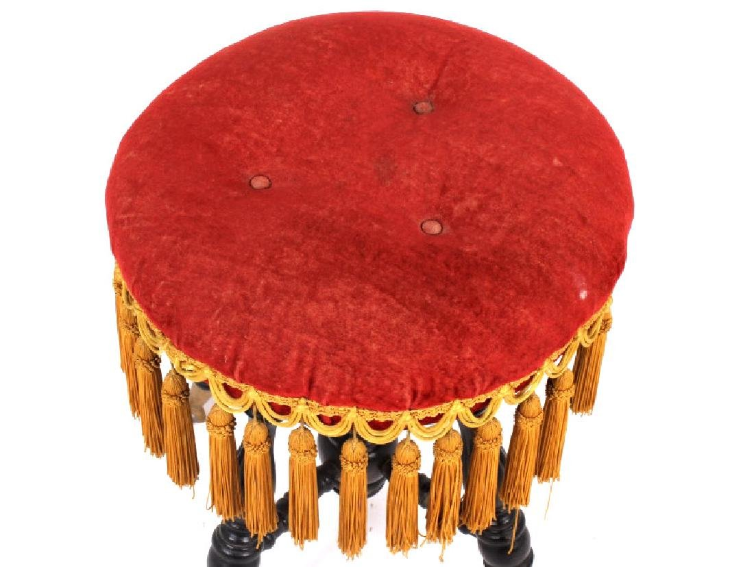 Early Glass Ball & Claw Piano Stool 1890-1900 - 4