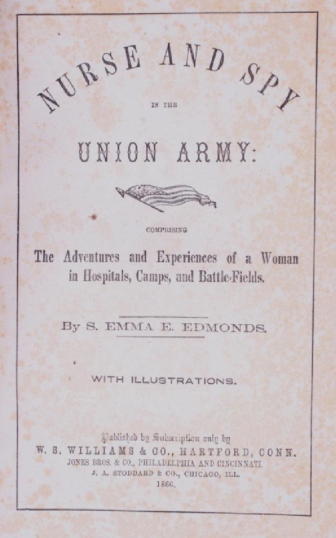 Nurse And Spy In The Union Army 1866 Emma Edmonds - 3