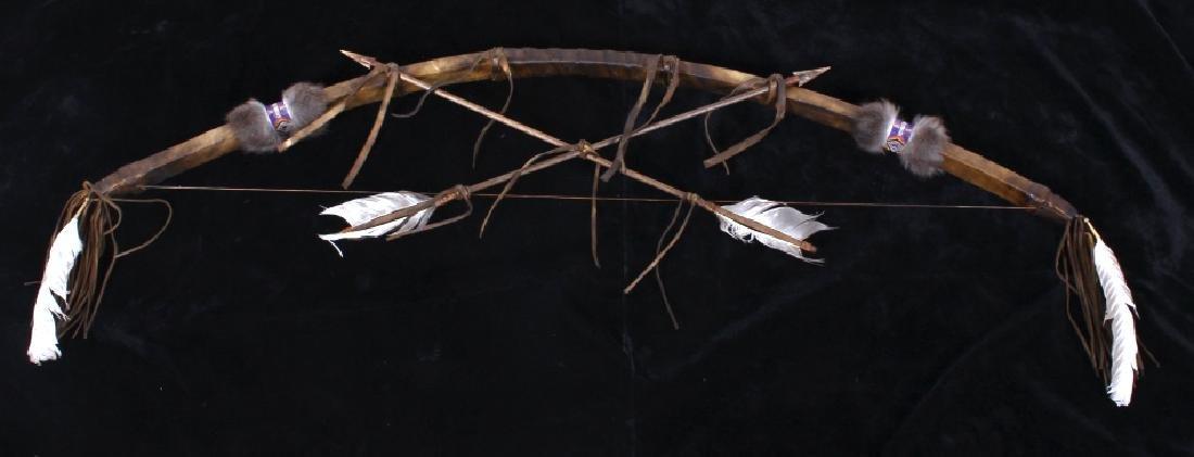 Plains Indian Bow and Arrow Wall Decor - 2