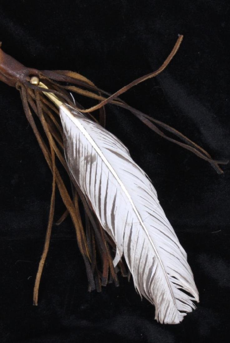 Plains Indian Bow and Arrow Leather Wall Decor - 3