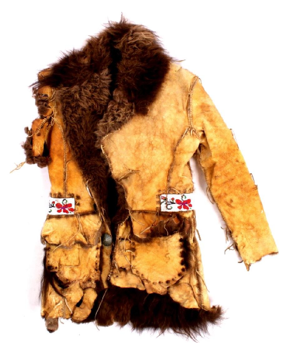 Plains Indian Shoshone Scout Buffalo Hide Coat