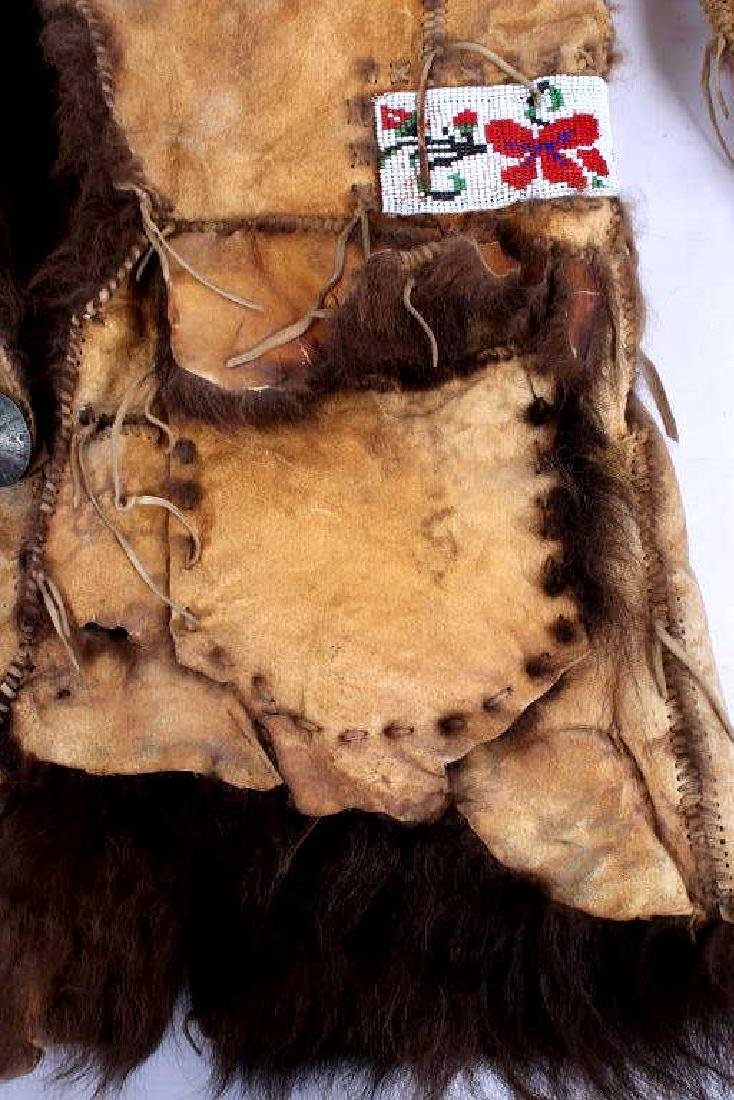 Plains Indian Shoshone Scout Buffalo Hide Coat - 4