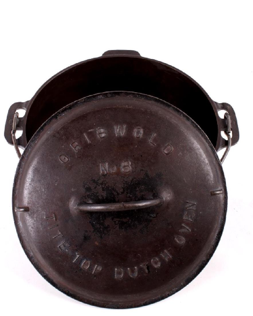 Griswold No. 8 Cast Iron Tite-Top Dutch Oven - 2
