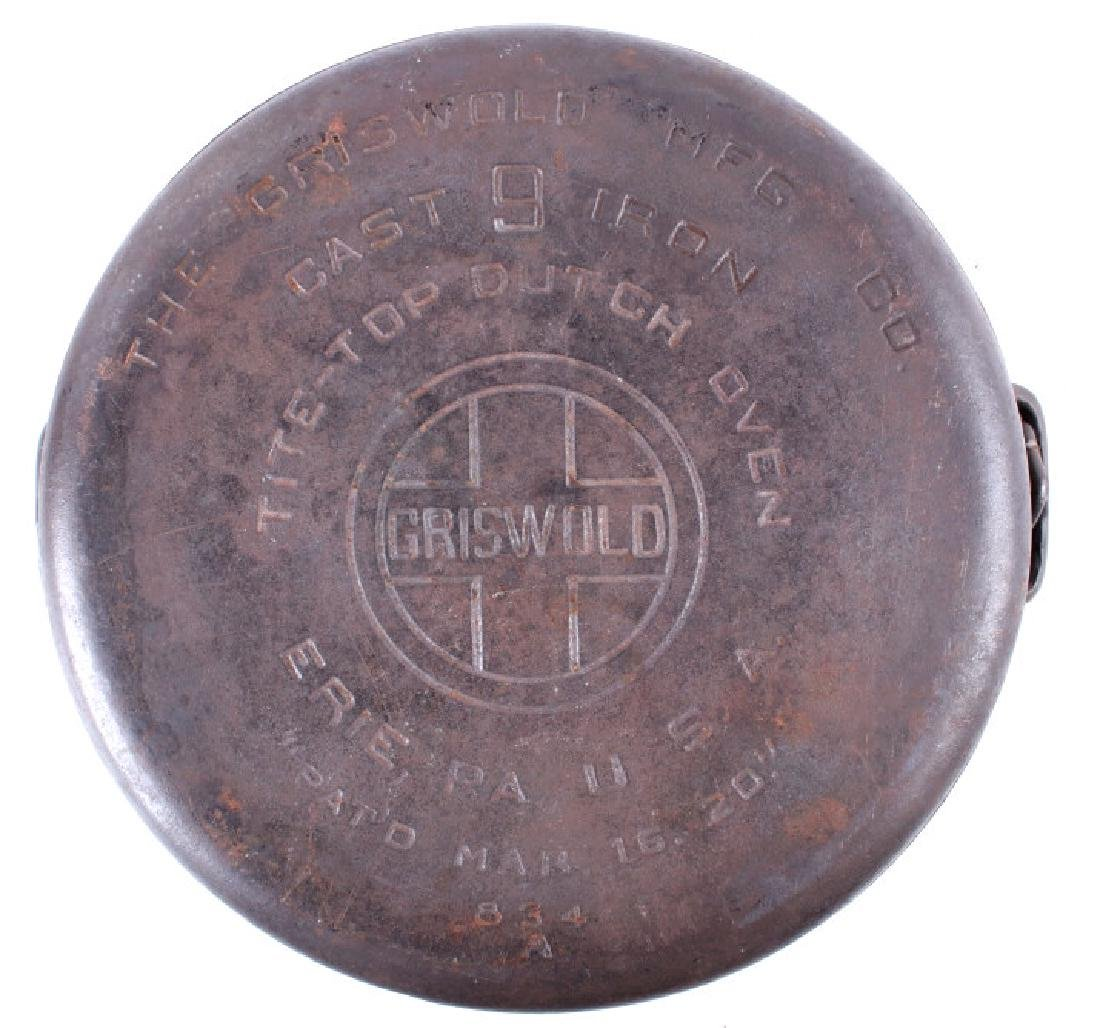 Griswold Cast Iron No. 9 Tite-Top Dutch Oven - 7