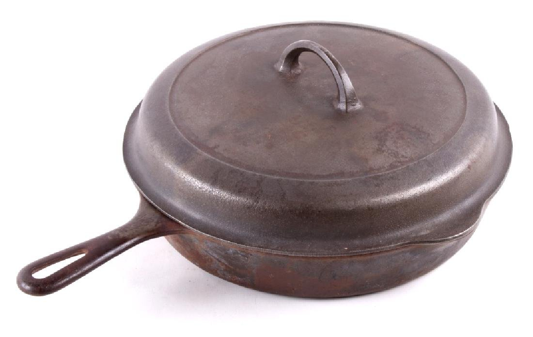 Large No. 10 Griswold Saute Pan With Lid