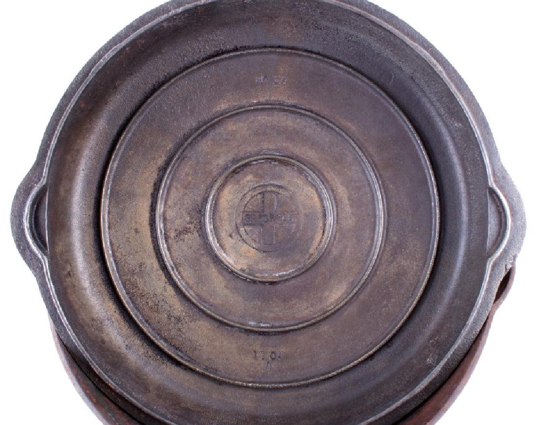 Large No. 10 Griswold Saute Pan With Lid - 3