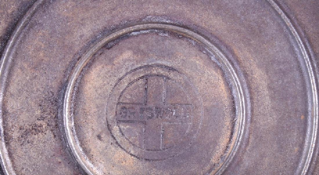 Large No. 10 Griswold Saute Pan With Lid - 4