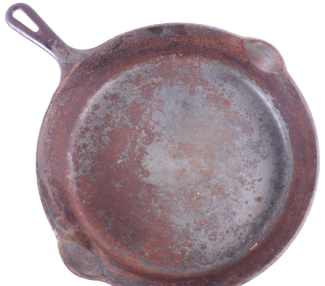 Large No. 10 Griswold Saute Pan With Lid - 5