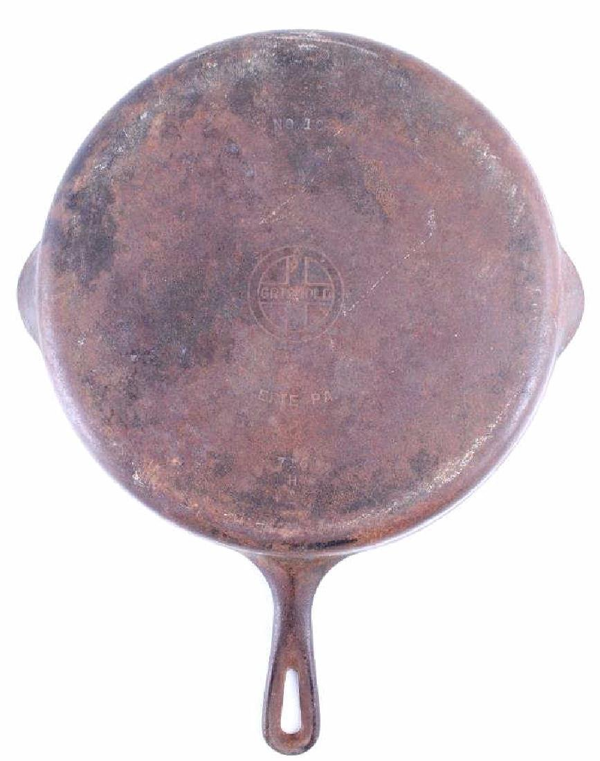 Large No. 10 Griswold Saute Pan With Lid - 7