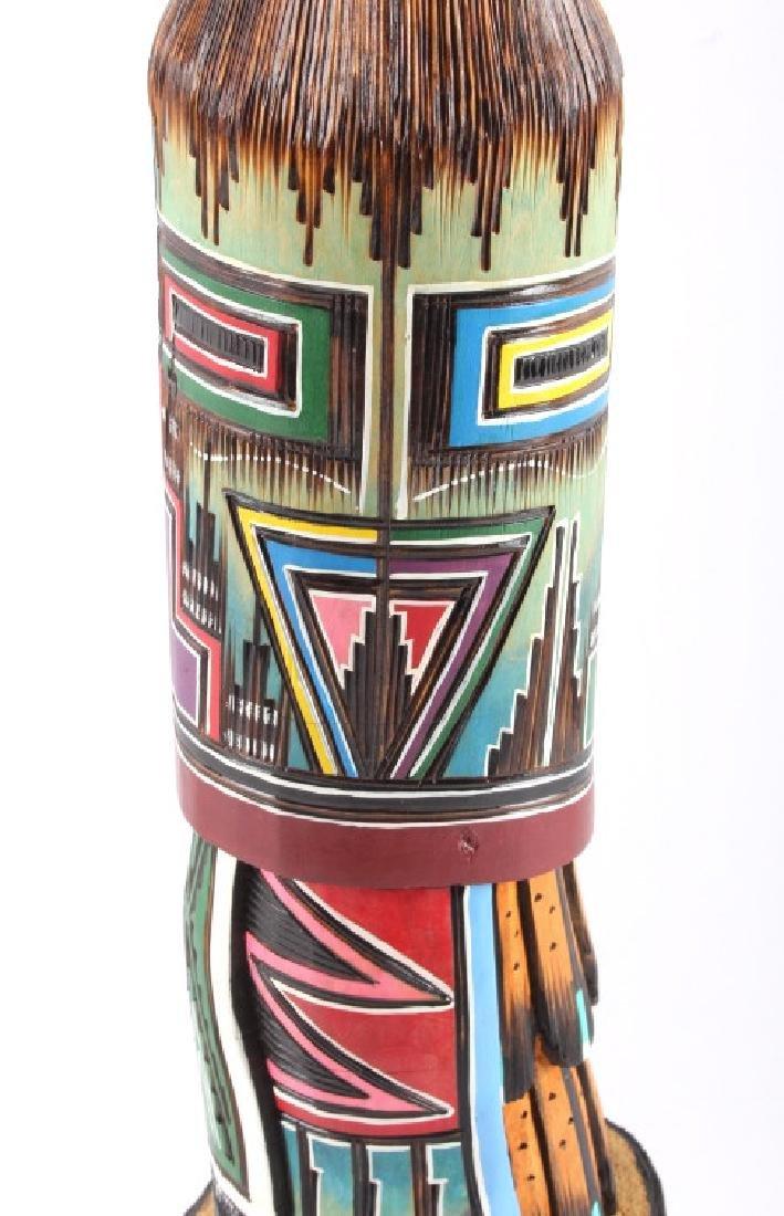 Navajo Native American Carved Wooden Kachina - 10