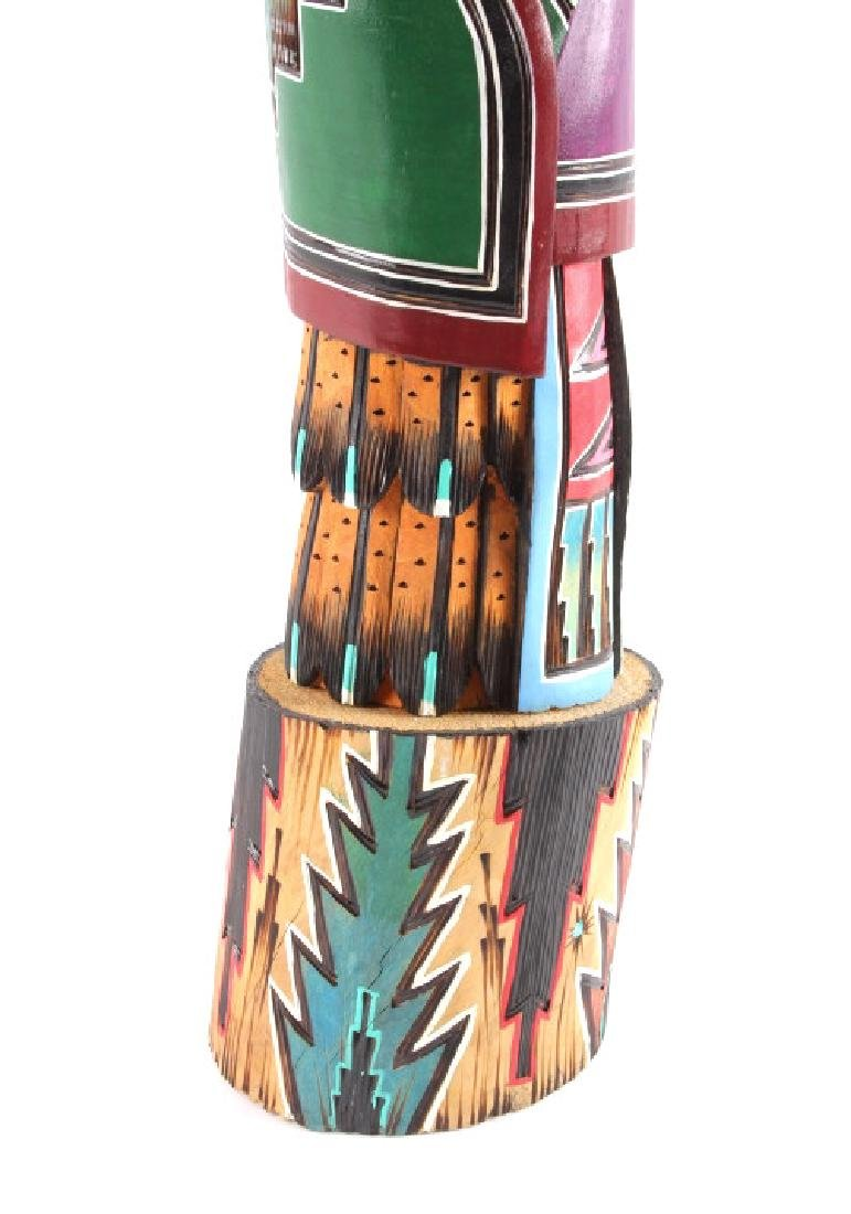 Navajo Native American Carved Wooden Kachina - 3