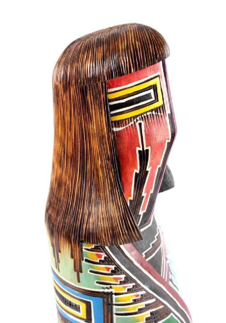 Navajo Native American Carved Wooden Kachina - 5