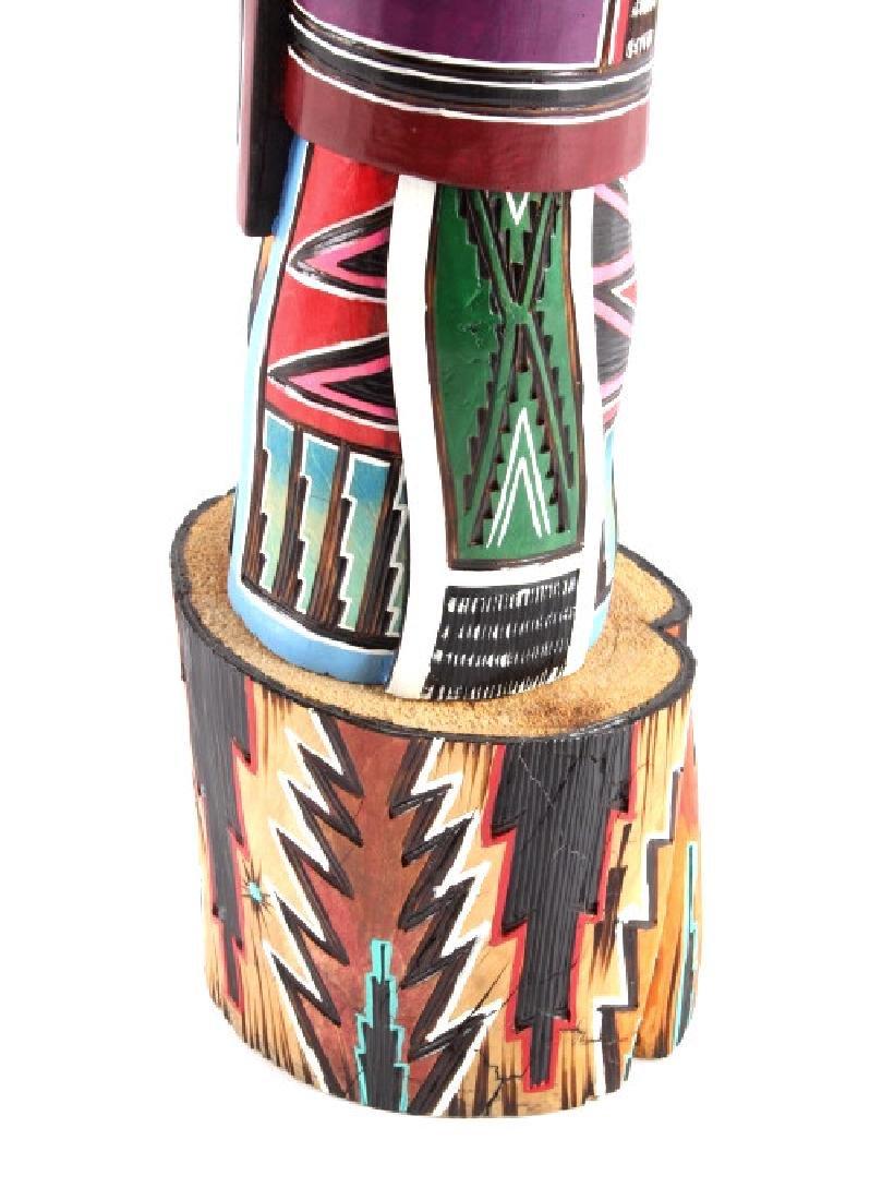 Navajo Native American Carved Wooden Kachina - 8