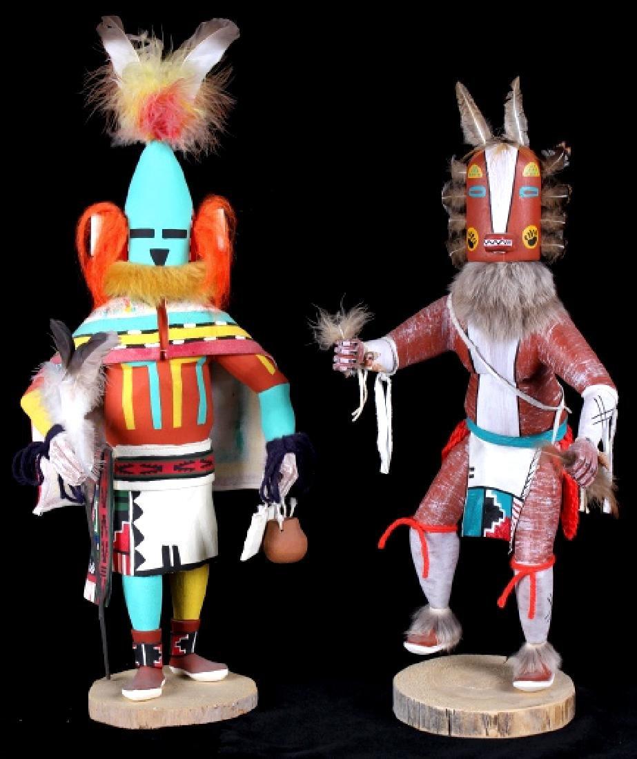 Hopi Hand Carved Signed Kachina Dolls (2)
