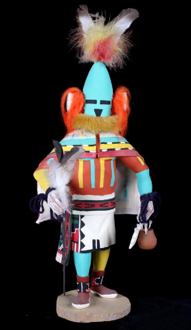 Hopi Hand Carved Signed Kachina Dolls (2) - 2
